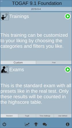 TOGAF exam prep training modes